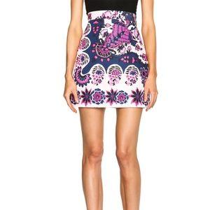 MSGM Flori Russi Foulard Skirt NWOT